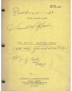 """The Betty Hutton Show """"The Cold War"""" 1959 Original Script"""