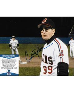 Charlie Sheen Major League 8X10 w/Beckett COA
