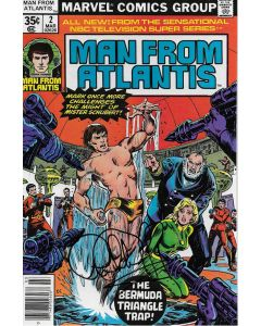 Man From Atlantis comic book signed by Patrick Duffy #2