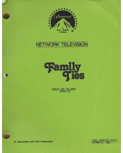 """Family Ties """"Beauty and the Bank"""" 1986 Original Script"""