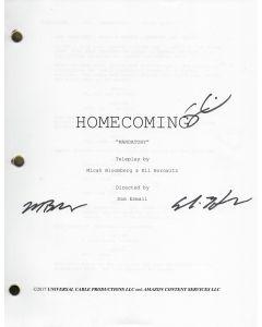 "Homecoming ""Mandatory""  original  script signed by Micah Bloomberg, Eli Horowitz, Sam Esmail"