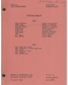 """Petticoat Junction """"Mae's Helping Hand"""" (1968) original script autographed and hand annotated by Linda Kaye Henning"""