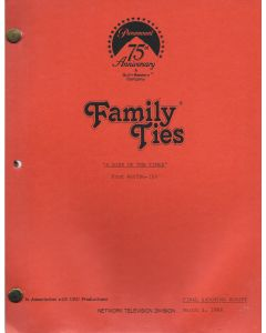 """Family Ties """"A Sign of the Times"""" 1988 Original Script"""