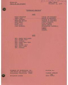 """Petticoat Junction """"Girl of our Dreams"""" original script autographed and hand annotated by Linda Kaye Henning"""