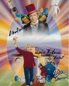 Albert Wilkinson / Julie Dawn Cole / Denise Nickerson Willy Wonka 8X10
