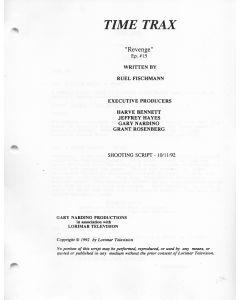 "Time Trax ""Revenge"" 1992 Original Script"