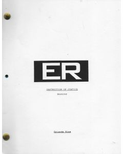"ER ""Obstruction of Justice"" Episode 9 Deezer D's personal Original Script"