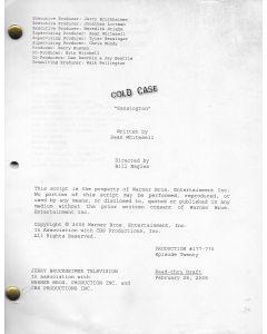 "Cold Case ""Kensington"" (2005) original script"