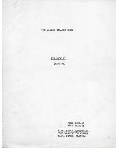 The Jackie Gleason Show Air Show #2 (1966) original script