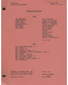 """Petticoat Junction """"Kate's Day in Court"""" original script autographed and hand annotated by Linda Kaye Henning"""