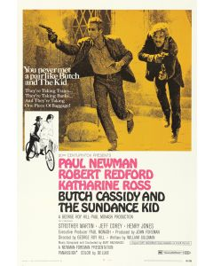 Butch Cassidy & The Sundance Kid Paul Newman Robert Redford 26x38 Reprint Movie Poster