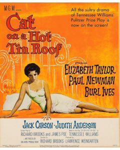 Liz Taylor Cat On A Hot Tin Roof Reprint Movie Poster 23x35