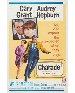 Audrey Hepburn Charade Reprint Movie Poster 26x38