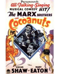 The Marx Bros Coconuts Reprint Movie Poster 27x40