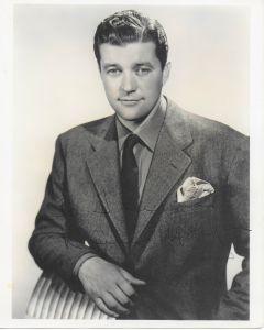 Dennis Morgan Vintage 8X10 photo (personalized to Thyra)