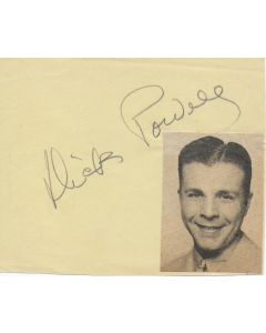 Dick Powell signed in person album page + photo