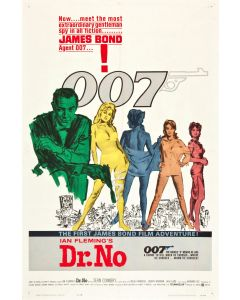 Sean Connery Dr No  Reprint Movie Poster 25x39