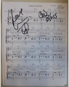 Letter to The Free sheet music signed by Common B7