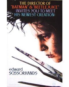 Johnny Depp Edward Scissorhands Reprint Movie Poster 27x40