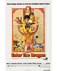 Bruce Lee Enter The Dragon Reprint Movie Poster 27x40