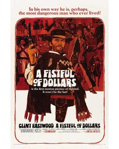 Clint Eastwood Fistful Of Dollars Reprint Movie Poster 27x40