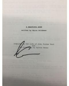 A Beautiful Mind SCRIPT - Signed by Akiva Goldman