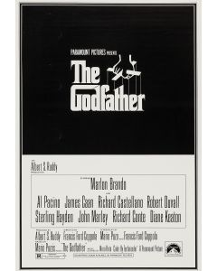 Marlon Brando The Godfather Reprint Movie Poster 27x40 #2