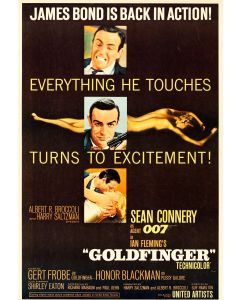 Sean Connery Goldfinger Reprint Movie Poster 27x40