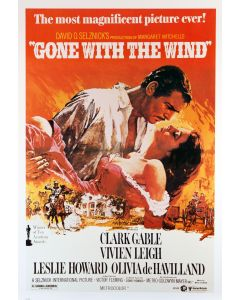 Clark Gable Gone With The Wind  Reprint Movie Poster 26x38