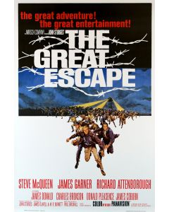 Steve McQueen The Great Escape Reprint Movie Poster 27x40