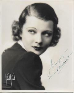 Harriet Hilliard Vintage Original Autographed 8X10 Photo