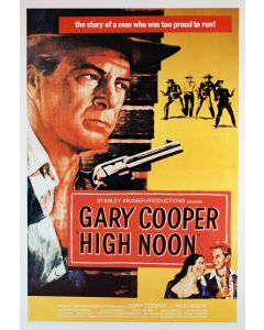Gary Cooper High Noon Reprint Movie Poster 26x38