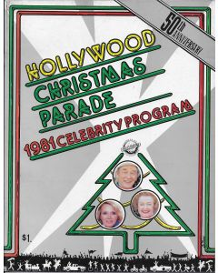 Hollywood Christmas Parade 1981 Celebrity Program