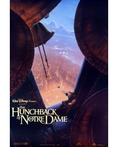 Disney Hunchback Of Notre Dame Reprint Movie Poster 27x40
