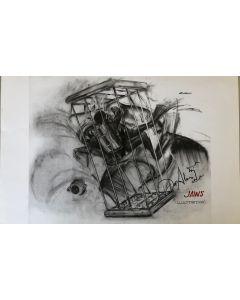 Joe Alves Jaws Original Conceptual Artwork 11X14 #9