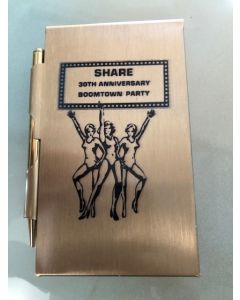 Share 30th Anniversary Boomtown Party promo pen/paper set