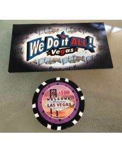 Welcome to Fabulous Las Vegas $100 poker chip