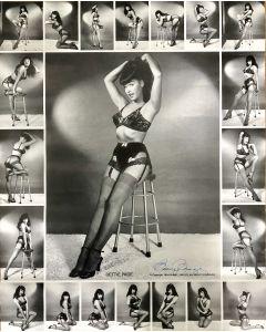 Bettie Page 16X20 poster signed by photographer Bunny Yaeger