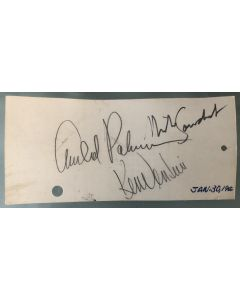 1966 Golf Tournament ticket signed by Arnold Palmer, Ken Venturi, and Mike Souchak (signed on the back)