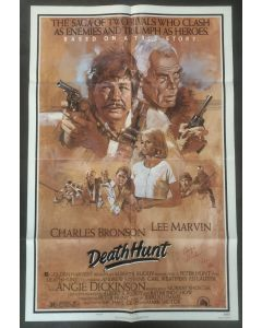 Death Hunt 27X40 original poster signed by Angie Dickinson