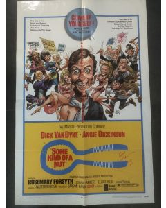 Some Kind of Nut 27X40 original poster signed by Angie Dickinson