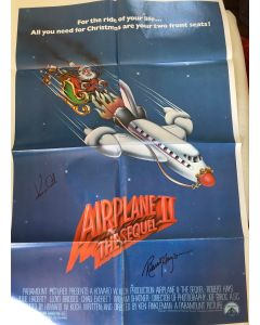Airplane 2 (27X40) original poster signed by Robert Hays and Kent McCord