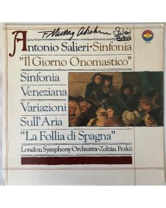 Salieri: Orchestral Works LP Cover signed by F. Murray Abraham