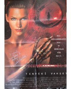 Species 2 (27X40) original folded Turkish poster signed by Natasha Henstridge