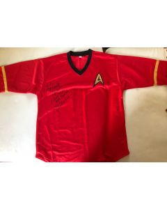 Star Trek TOS Uhura replica top signed by Nichelle Nichols