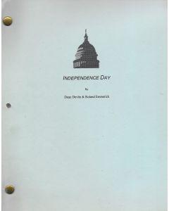 """Independence Day"" original script belonging to Robert Pine"