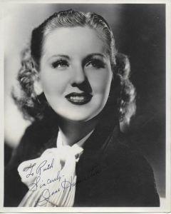 Jane Hamilton Vintage Original Autographed 8X10 Photo (personalized to Ruth)
