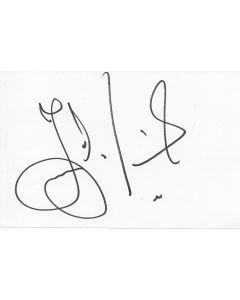 Jesper Parnevik golfer signed album page/card