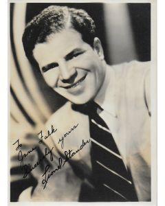 Lionel Stander Vintage 5X7 photo (personalized to Jane Falk