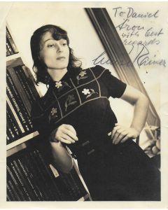 Luise Rainer Vintage 8X10 photo (personalized to Daniel)
